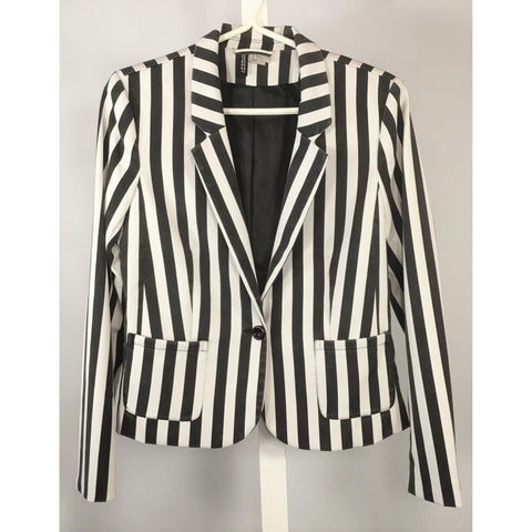 Divided Striped Blazer - Discoveries size M