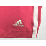 Adidas pink tank top logo close up view