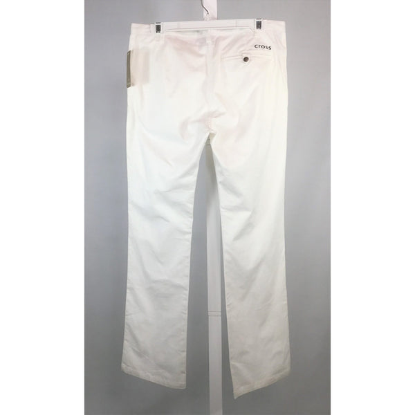 Cross white chinos back view