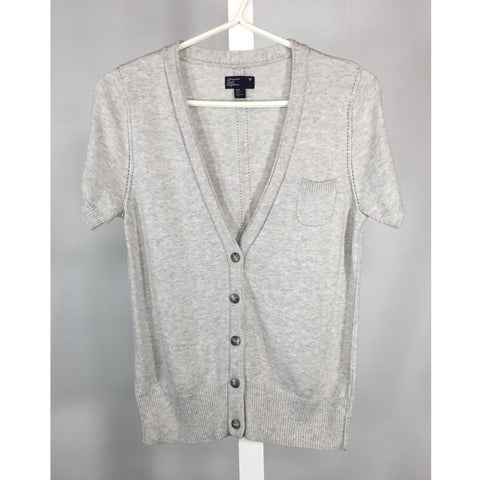 American Eagle Light Grey Cardigan - Discoveries size S