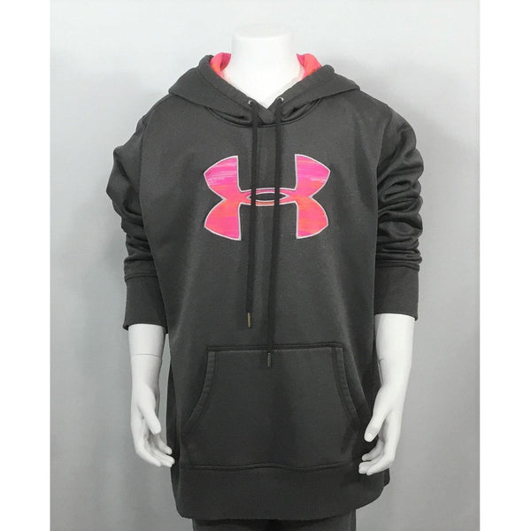 Under Armour Grey Logo Hoodie - size adult S, youth L