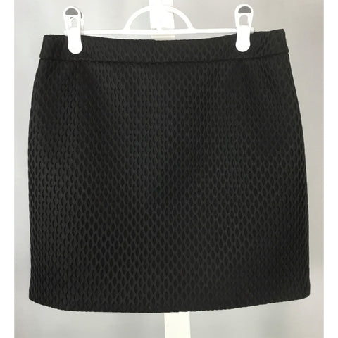 Express Textured Black Mini-Skirt - Discoveries size M