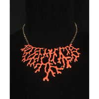 Orange 'Branch' Necklace