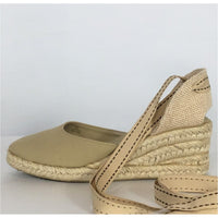 Montego Bay Club Ankle Tied Espadrilles - size 6.5