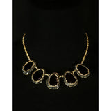black pave necklace