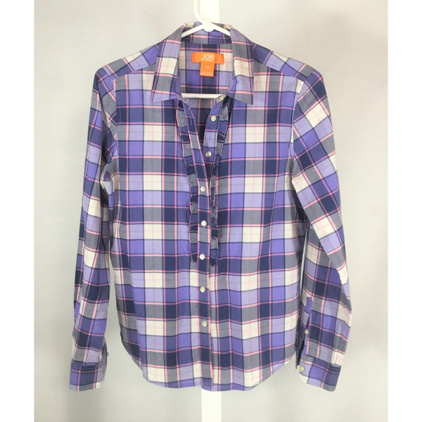 Joe Fresh plaid shirt blouse