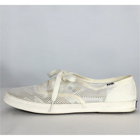 Keds Lacy Openwork Sneakers - size 9 / 40