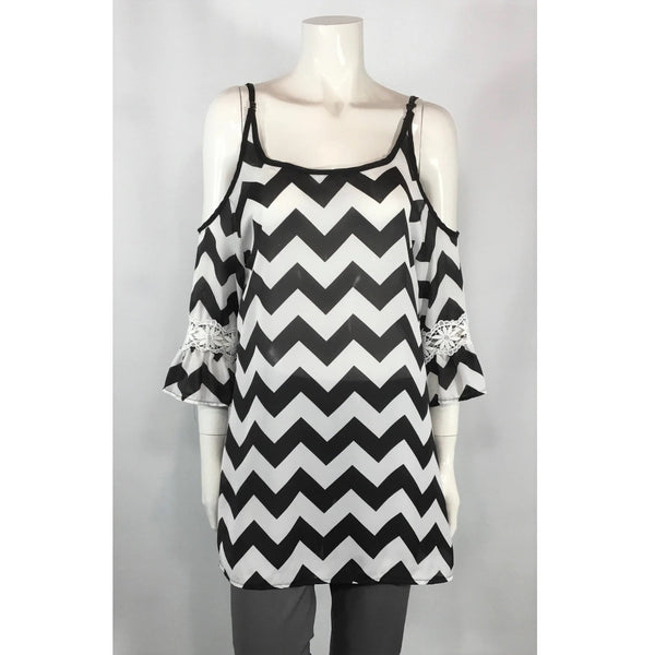 Uno Qi Clothing Zigzag Top - Discoveries size S, M