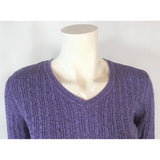 Karen Scott purple v-neck