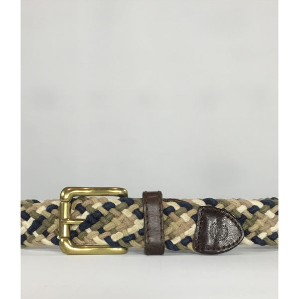 Braided Belt with Leather Trim