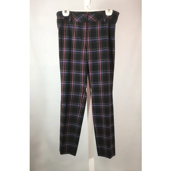 N- Black Label plaid pants front view