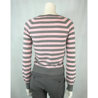 Bluenotes striped cardigan back view