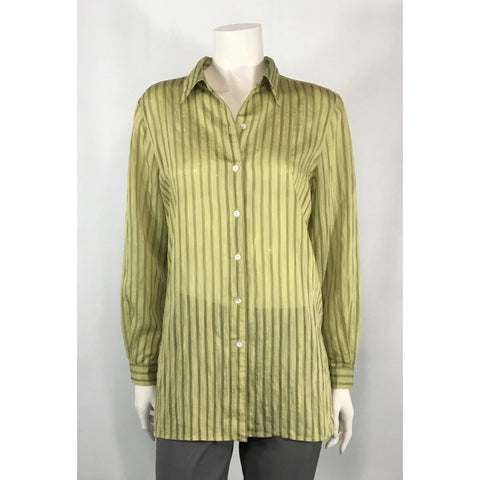 Liz Claiborne Silk Blend Shirt Blouse - Discoveries size S, M