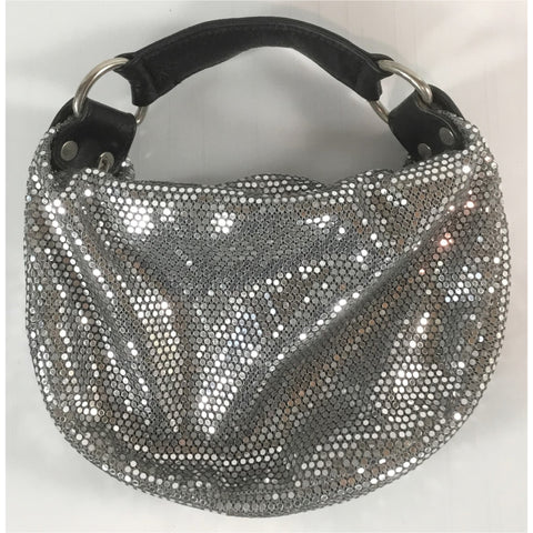 Amy 8 Chan Silver Metal Mini Handbag