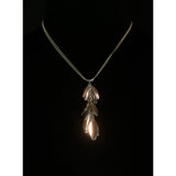 Silver Leaf Cascade Pendant Necklace