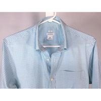 Club Monaco Blue Mini Check Shirt - size S