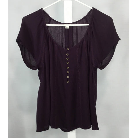 Garage Dark Grape Colour Blouse - Discoveries size S, M