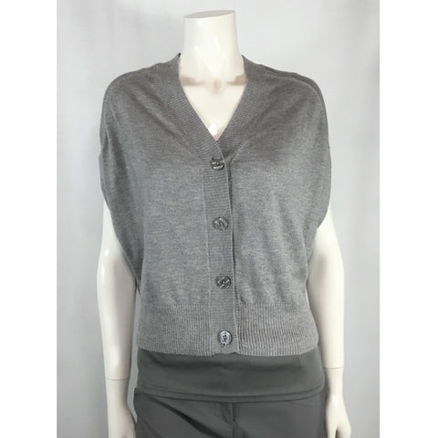 Jessica Grey Sleeveless Cardigan - Discoveries size M