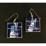 Abstract Blue Earrings