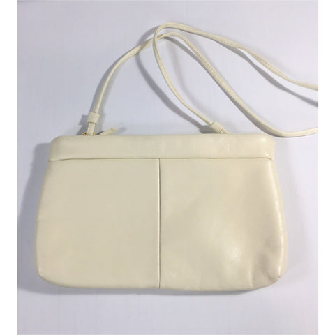 Envelope Style Clutch in Cream Leather