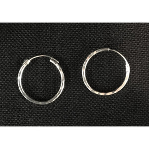 Sleeper Style Silver Colour Hoops