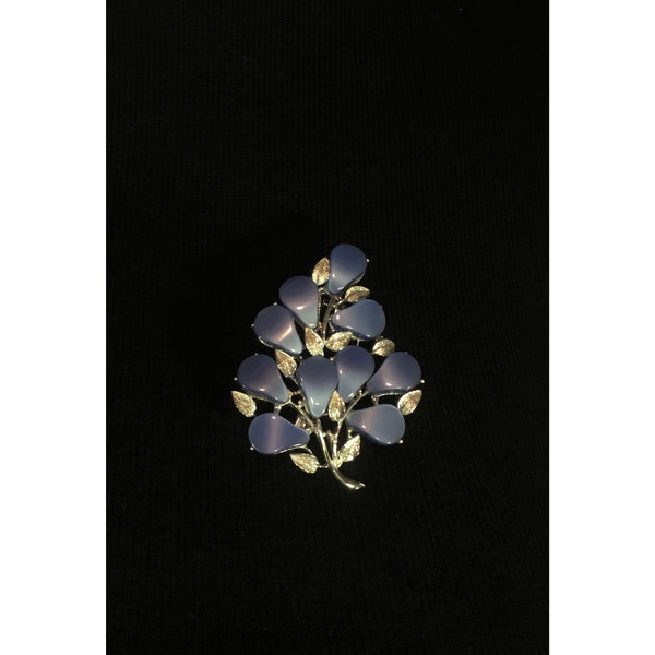 blue & silver brooch