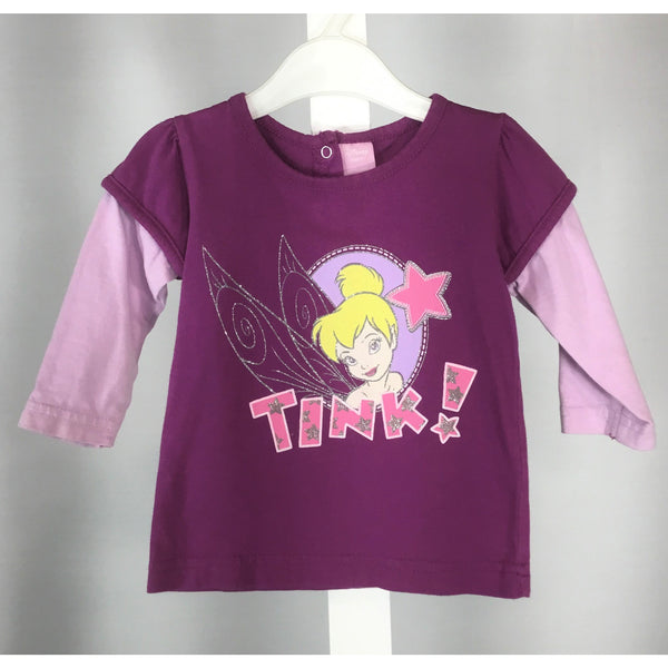Disney Purple Tinkerbell Top - size 3 to 6 months