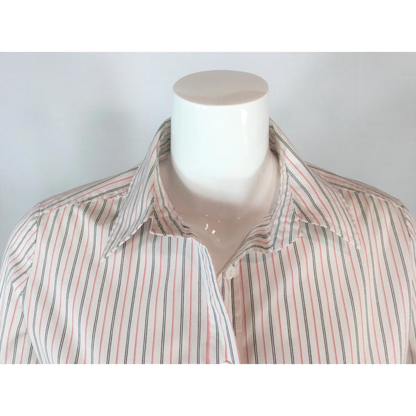 Spanner Striped Side-Tie Shirt - Discoveries size L