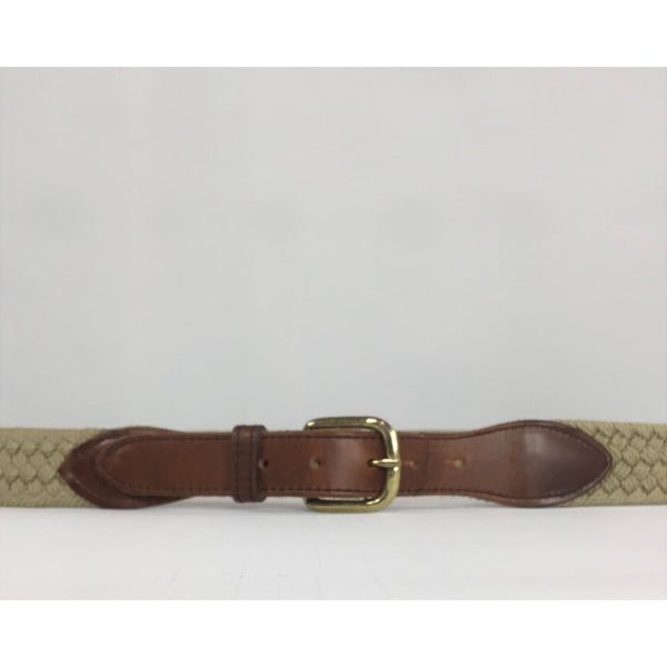 Light Olive Braided Belt