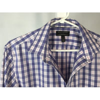 Banana Republic Pink and Blue Check Dress Shirt - size M