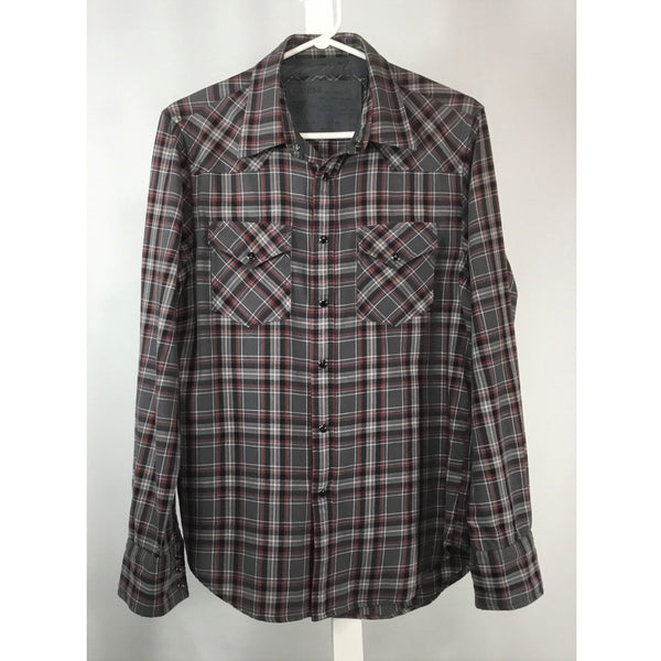 Guess Grey Plaid Flannel Shirt - size S