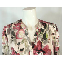 Sung Burgundy Floral Blouse - Discoveries size M