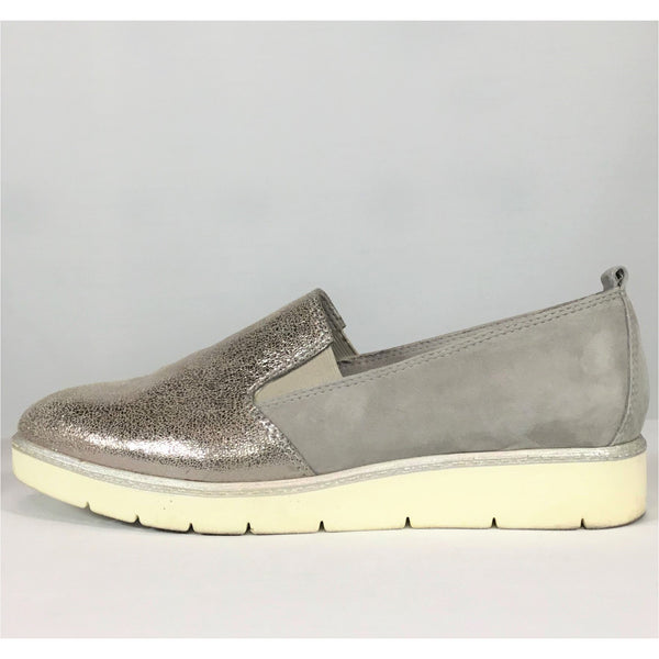 Tamaris Silver and Grey Casual Flats   (size 39)