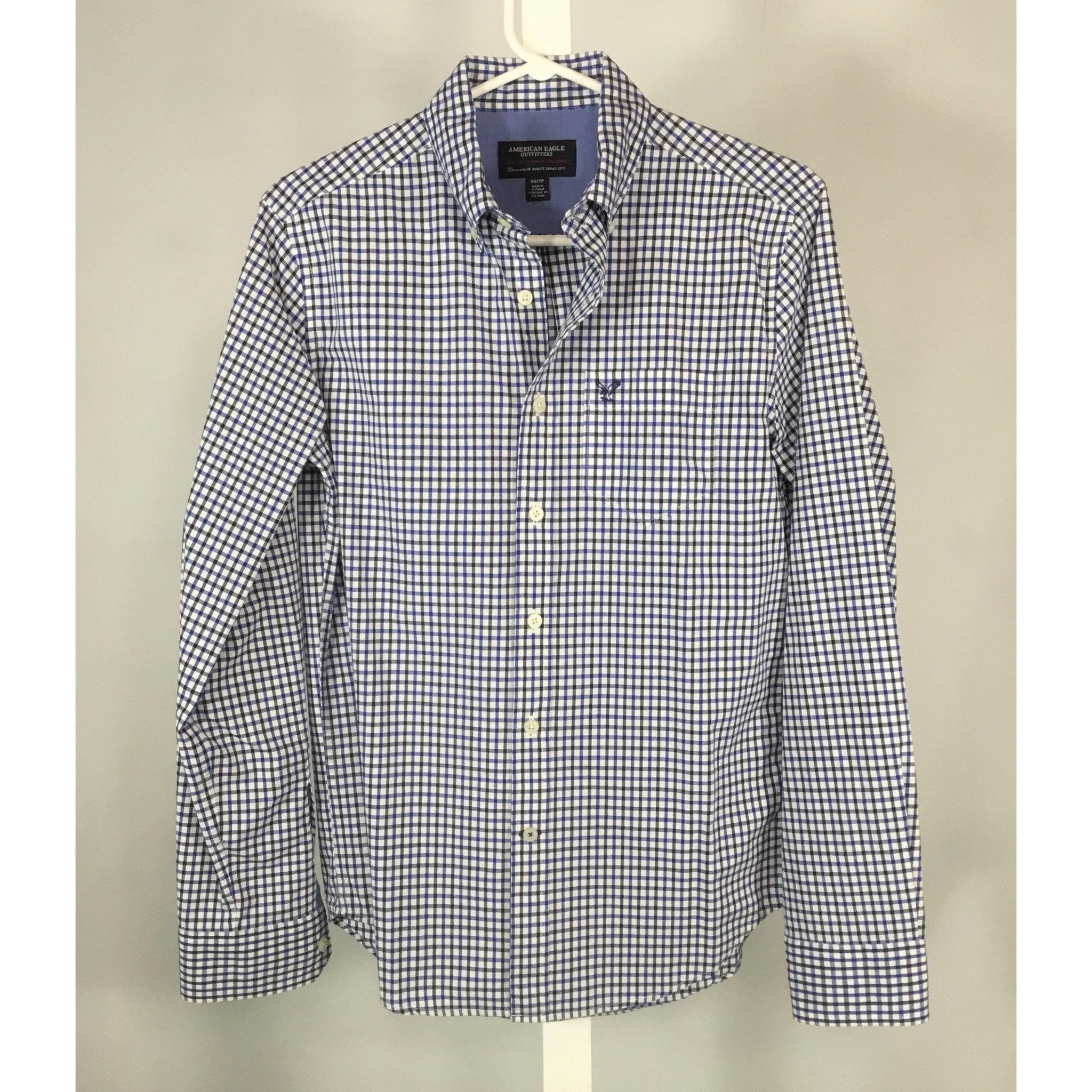 American Eagle check shirt front view