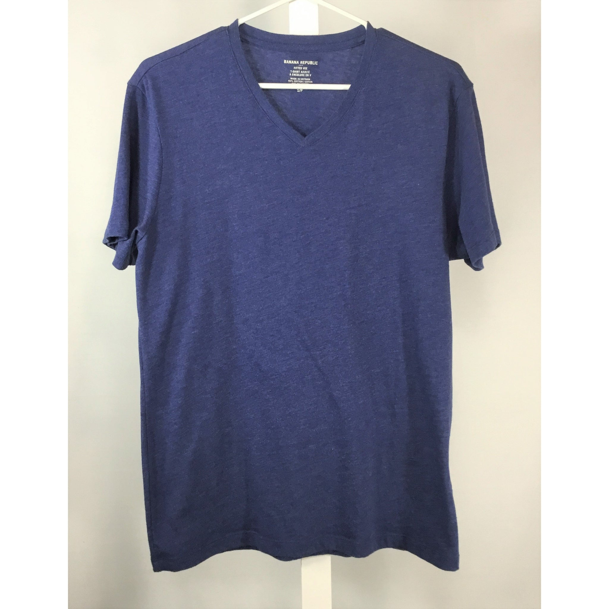 Banana Republic Blue Fitted Tee - size S