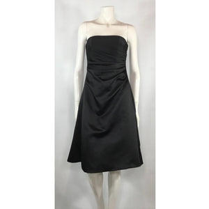 Alfred Angelo Black Satin Dress - Discoveries size S