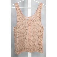 Pinky Beige Lacy Tank Top - Discoveries size S