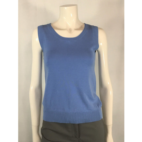 August Silk Blue Top - Discoveries size S