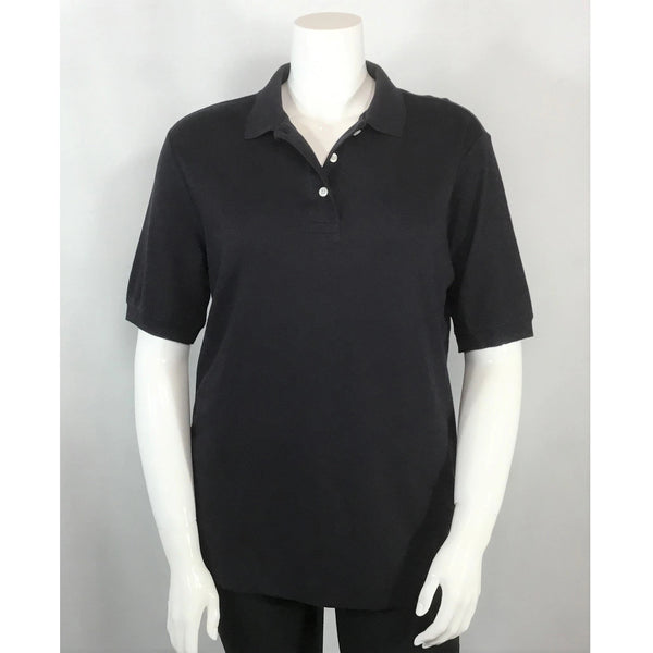 Land's End black golf shirt