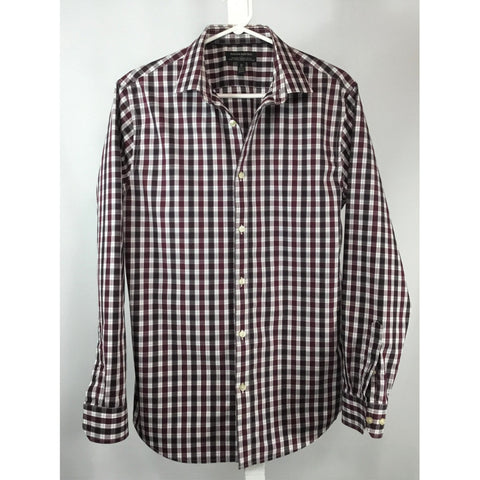 Banana Republic Burgundy Check Shirt - size M