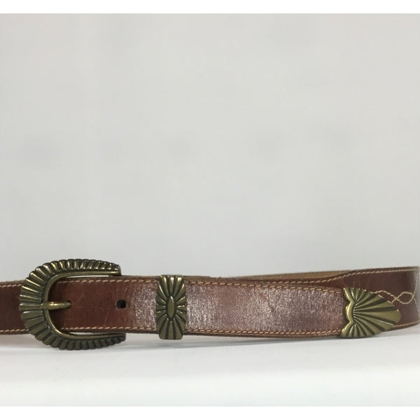Western Style Leather Belt
