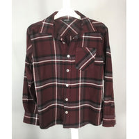 George Plaid Flannel Shirt - size M (10-12)
