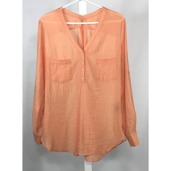 Light Orange Shimmery Blouse - Discoveries size M
