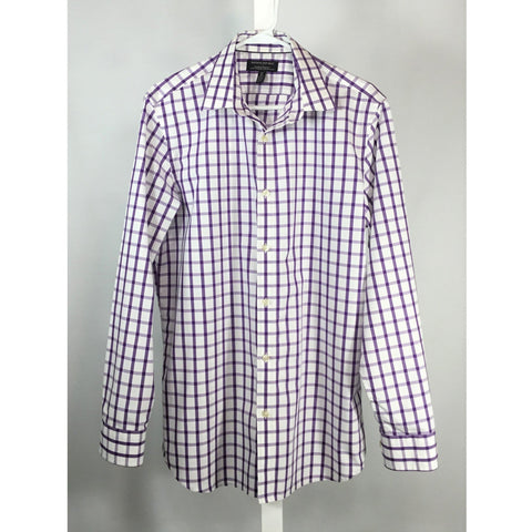 Banana Republic Purple and White Check Shirt - size M