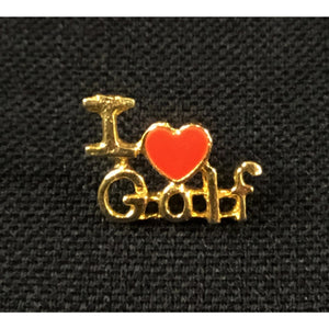 I 'Heart' Golf Pin