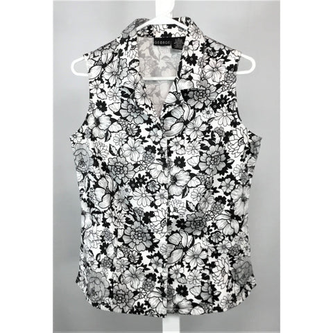 George floral sleeveless blouse