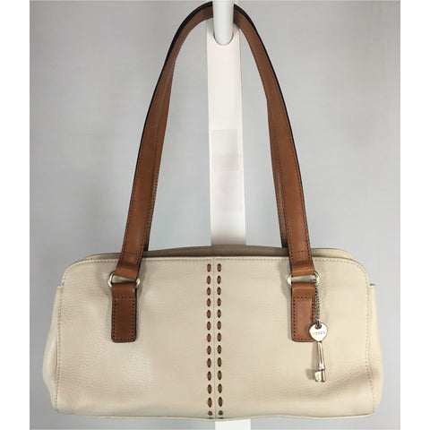 Fossil Bone Leather Handbag