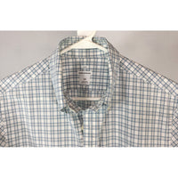 Club Monaco Blue Mini Check Dress Shirt - size S