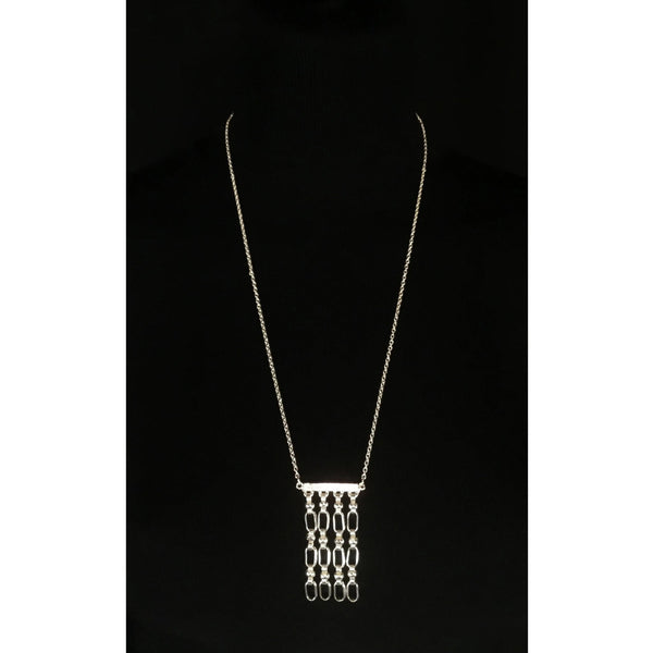 bright silver chain necklace