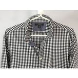 Banana Republic Black and White Gingham Shirt - size M